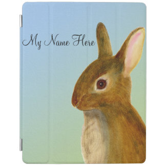 Baby Rabbit Watercolor Painting Wildlife Artwork iPad Cover