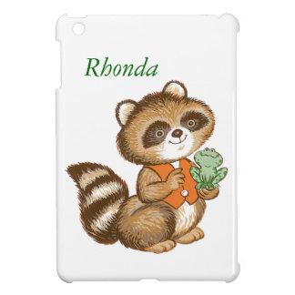 Baby Raccoon in Orange Vest with Best Friend Frog iPad Mini Case