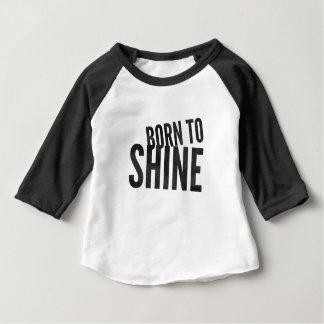 Baby Raglan 'Born to Shine' Baby T-Shirt