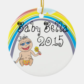 Baby Rainbow Cartoon Ceramic Ornament