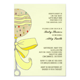 Baby Rattle Baby Shower Invitation