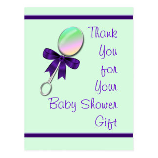 Baby Rattle Thank You & customize Postcards