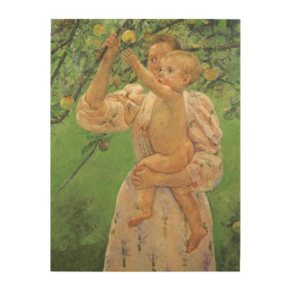 Baby Reaching for an Apple by Mary Cassatt Wood Prints