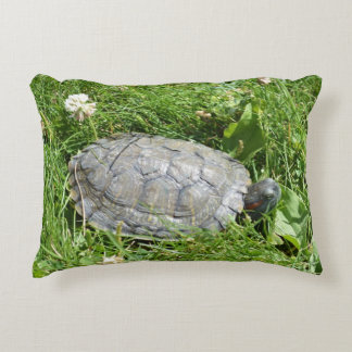 Baby Red Eared Slider Turtle Accent Cushion