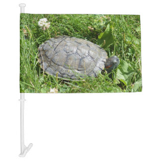Baby Red Eared Slider Turtle Car Flag