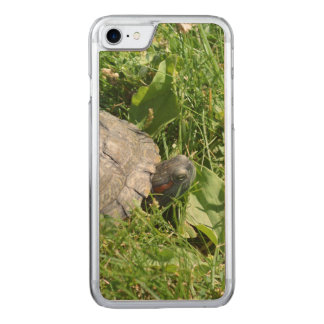 Baby Red Eared Slider Turtle Carved iPhone 7 Case