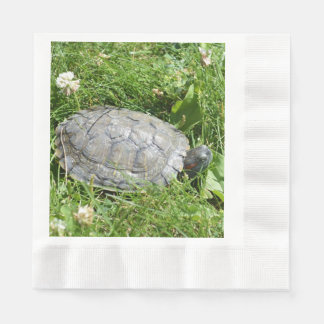 Baby Red Eared Slider Turtle Paper Napkin