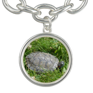 Baby Red Eared Slider Turtle Charm Bracelets