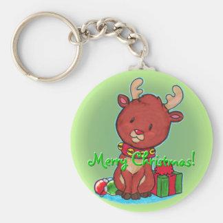 Baby Reindeer Keychain Basic Round Button Keychain