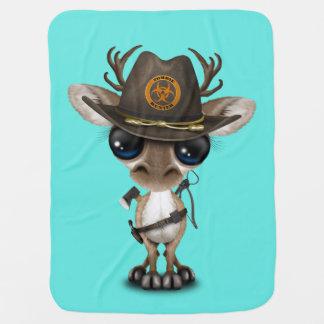 Baby Reindeer Zombie Hunter Baby Blanket