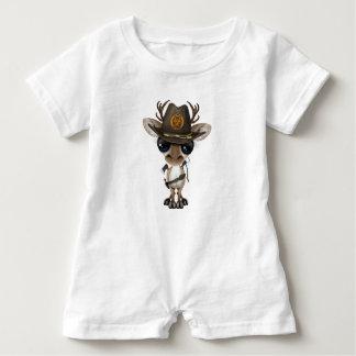 Baby Reindeer Zombie Hunter Baby Bodysuit