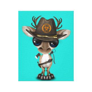 Baby Reindeer Zombie Hunter Canvas Print