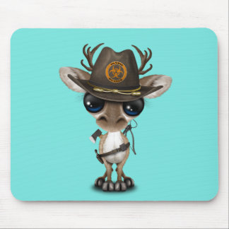 Baby Reindeer Zombie Hunter Mouse Pad