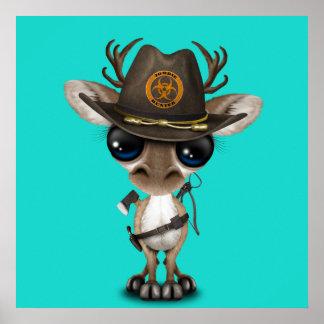 Baby Reindeer Zombie Hunter Poster