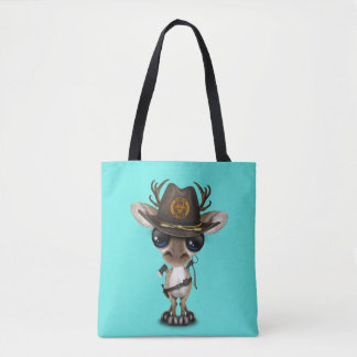 Baby Reindeer Zombie Hunter Tote Bag
