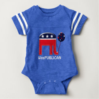 Baby Republican elephant balloon Baby Bodysuit