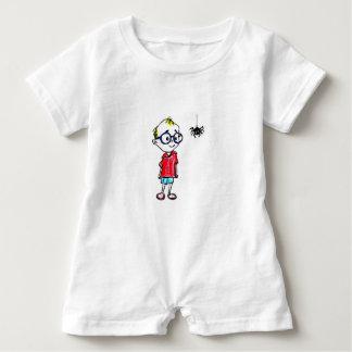 BABY ROMPER - CURIOUS LITTLE BOY BABY BODYSUIT