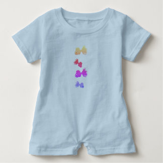 Baby Romper Fishes blue Baby Bodysuit
