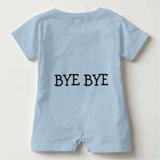 """Baby Romper """" hello, bye bye."""" Baby Bodysuit"""
