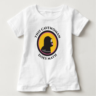 Baby Romper This Smart Cavewoman Does Math Baby Bodysuit