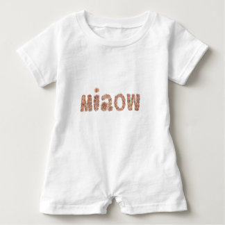 Baby romper with 'miaow' baby bodysuit