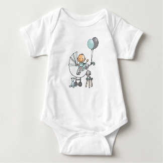 Baby rompertje with baby in pram baby bodysuit