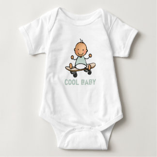 Baby rompertje with baby on skateboard baby bodysuit