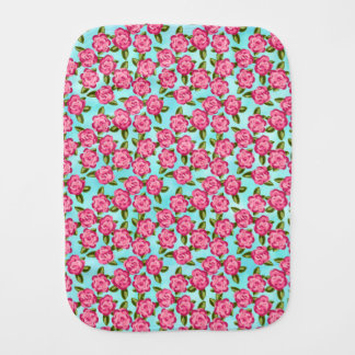 Baby Roses Burp Cloth