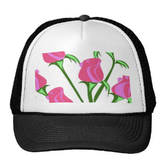 baby roses mesh hats
