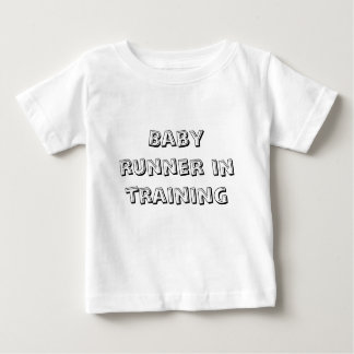 Baby runner in training tshirt