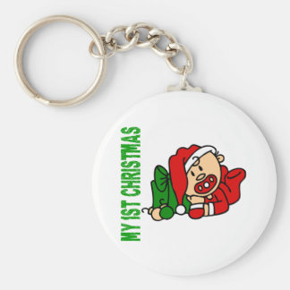 Baby's 1st Christmas BOY Keychain