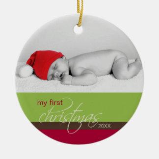 Baby s 1st Christmas Custom Ornament green
