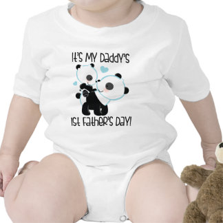 Baby s 1st Father s Day tee panda