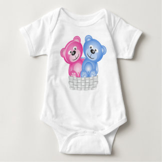 Baby's apparel with teddy bears baby bodysuit