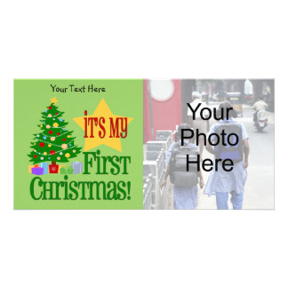 Baby s First Christmas Customizable Photo Cards
