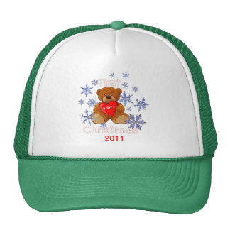 Baby s First Christmas Trucker Hat