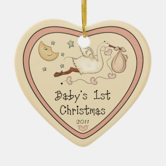 Baby s First Christmas Heart Ornament