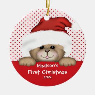 Baby s First Christmas Ornament Santa Bear