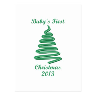 Baby s First Christmas Ornaments and Gifts Post Card