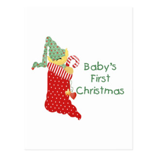 Baby s First Christmas Post Card