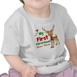 Baby s First Christmas Reindeer Tshirts