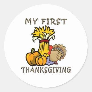Baby s First Thanksgiving Sticker