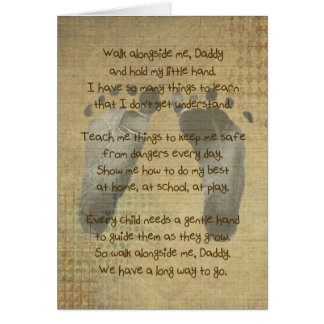 Baby s Footprints for Daddy s Birthday Cards
