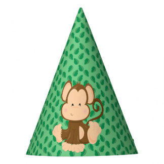 Baby Safari Animals Party | Monkey Party Hat