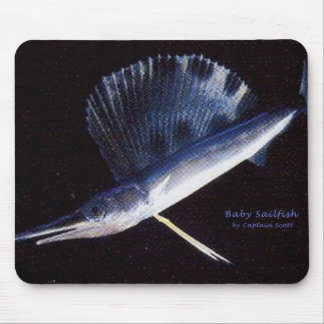 Baby sailfish mouse pad