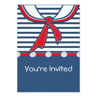 Baby Sailor Suit B 13 Cm X 18 Cm Invitation Card