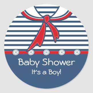 Baby Sailor Suit B Round Sticker