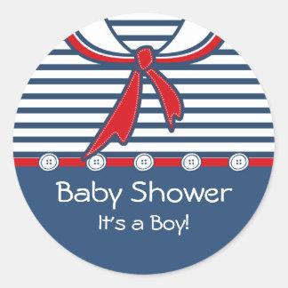 Baby Sailor Suit B Round Sticker