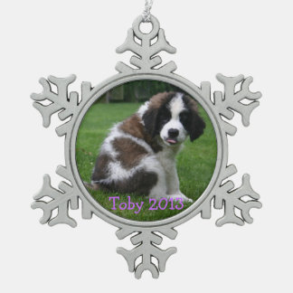 Baby Saint Bernart 2013 Ornament