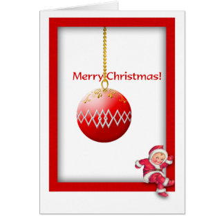 Baby Santa Merry Christmas Greeting Cards